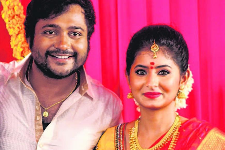 நடிகர் பாபி சிம்ஹா, நடிகை ரேஷ்மி மேனன்.