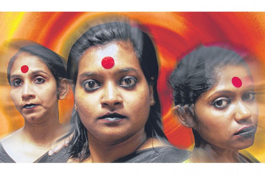 'நம்மவர்' நிகழ்ச்சியில் மேடை வாசிப்பு செய்வோர். படம்: அவாண்ட் நாடகக்குழு