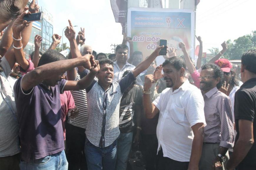 Gotabaya Rajapaksa's victory is celebrated by his supporters