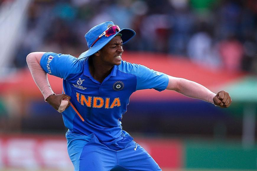 A pumped-up Yashasvi Jaiswal during the Under-19 World Cup final against Bangladesh. PHOTO: AFP